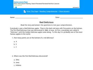 Red Delicious Worksheet
