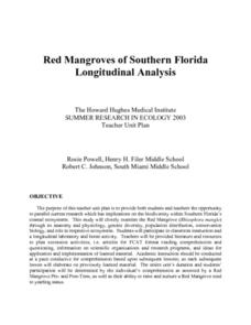 Red Mangroves Of Southern Florida Lesson Plan
