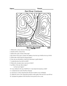 Red River Contours Worksheet