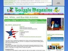 Red, White, and Blue Fun Lesson Plan