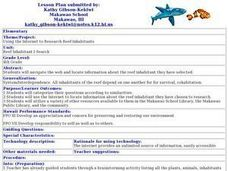 Reef Inhabitant I-Search Lesson Plan