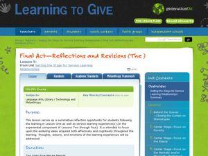 Reflections and Revisions Lesson Plan