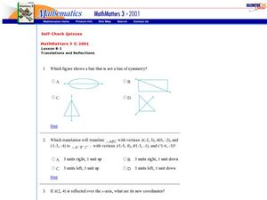 Reflections and Translations Worksheet