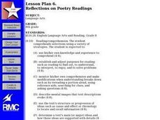 Reflections on Poetry Readings Lesson Plan