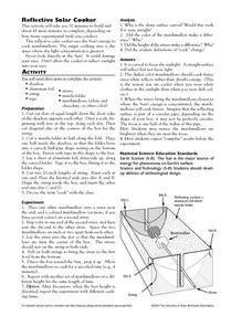 Reflective Solar Cooker Lesson Plan