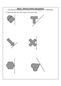 Reflective Symmetry and Translations Worksheet