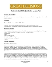 Reform in the Middle East Online Lesson Plan Lesson Plan