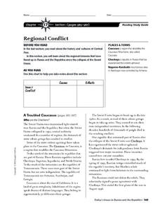 Regional Conflict in Central Asia Worksheet