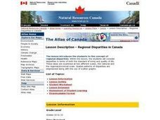 Regional Disparities in Canada Lesson Plan