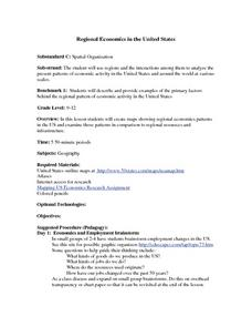 Regional Economics in the United States Lesson Plan