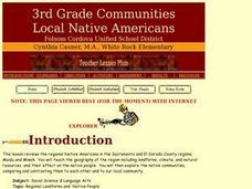 Regional Landforms and  Native People Lesson Plan
