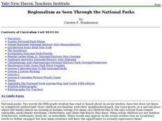 Regionalism as Seen Through the National Parks Lesson Plan