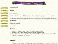 Regions and Crops Lesson Plan