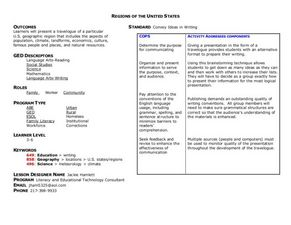 Regions of the United States Lesson Plan