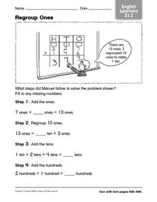 Regroup Ones Worksheet