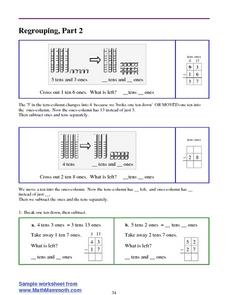 Regrouping Demonstrated with Place Value Blocks Lesson Plan