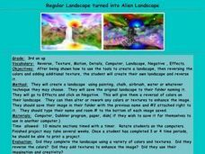 Regular Landscape turned into Alien Landscape Lesson Plan