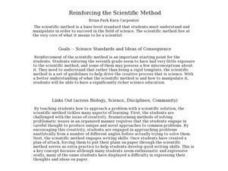 Reinforcing the Scientific Method Lesson Plan