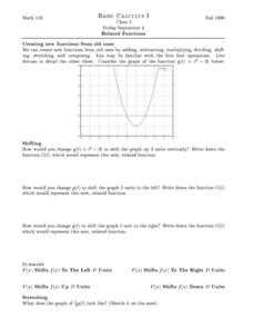 Related Functions Worksheet