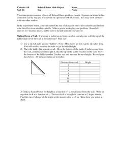 Related Rates of Change Lesson Plans & Worksheets