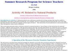 Related to Natural Products Lesson Plan