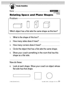 Relating Space and Plane Shapes Lesson Plan