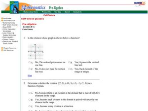 Relations and Functions Worksheet