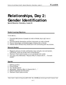 Relationships, Day 2:  Gender Identification Lesson Plan