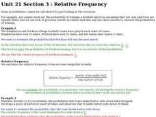 Relative Frequency Worksheet