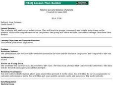 Relative Size and Distance of Planets Lesson Plan