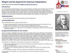 Religion and the Argument for American Independence Lesson Plan