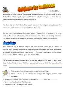Religion in the Caribbean Worksheet