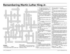 Remembering Martin Luther King, Jr. Worksheet