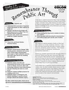 Remembrance Through Public Art Lesson Plan