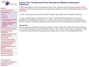 Removal of the Cherokees in Relation to Westward Expansion Lesson Plan