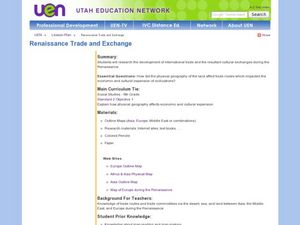 Renaissance Trade and Exchange Lesson Plan