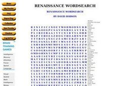 Renaissance Word Search Worksheet