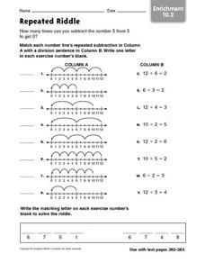 Repeated Riddle Worksheet
