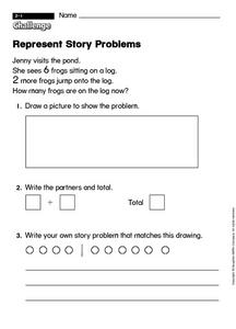 Represent Story Problems Worksheet