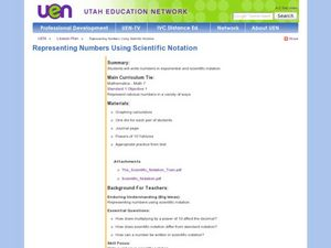 Representing Numbers Using Scientific Notation Lesson Plan
