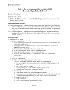 Reproducing the Forest Lesson Plan