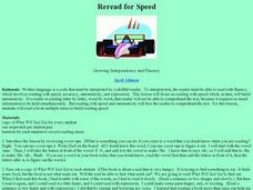 Reread for Speed Lesson Plan