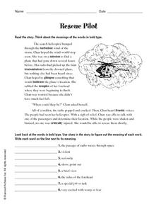 Rescue Pilot Worksheet