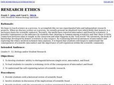 Research Ethics Lesson Plan