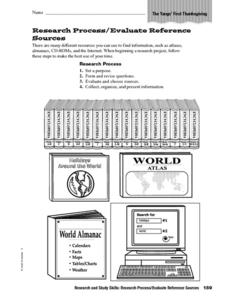 Research Process/Evaluate Reference Sources Worksheet