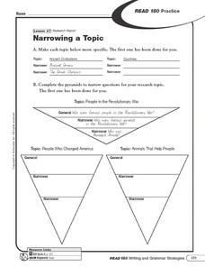 Research Report Practice Worksheet