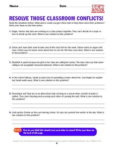 Resolve Those Classroom Conflicts Lesson Plan