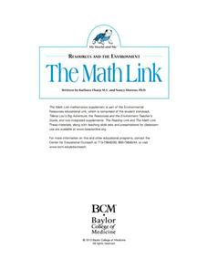 Resources and the Environment: The Math Link Kindergarten ...