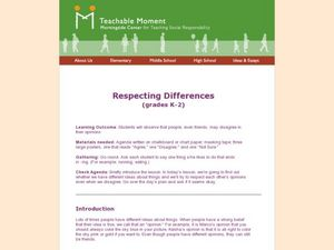 Respecting Differences Lesson Plan