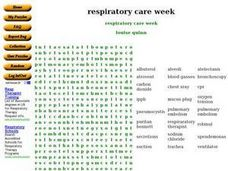 Respiratory Care Week Worksheet